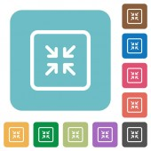 Shrink object white flat icons on color rounded square backgrounds