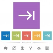 Keyboard tab flat white icons in square backgrounds 6 bonus icons included