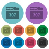 Browser 307 temporary redirect color darker flat icons