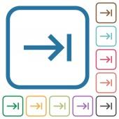 Keyboard tab simple icons
