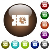 Music store discount coupon color glass buttons