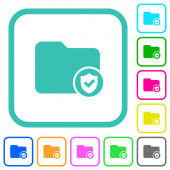 Protected directory vivid colored flat icons
