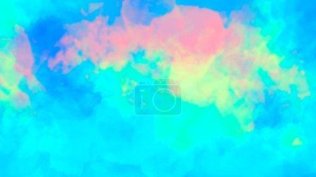 Photo pour Fond abstrait aquarelle coloré . - image libre de droit