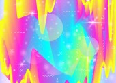Hologram background with vibrant rainbow gradients Dynamic fluid Holographic cosmos