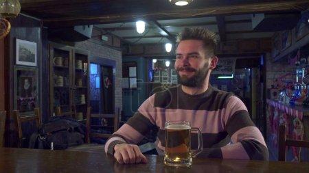 Man highfives with bartender