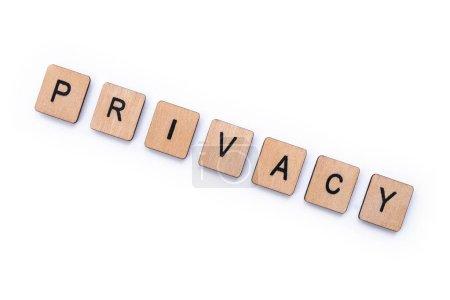 La palabra PRIVACIDAD