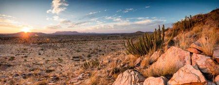 Photo pour Vues panoramiques sur la région de Kalahari en Afrique du Sud - image libre de droit