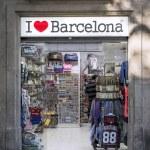 The i love barcelona tourist souvenir shop exterio...