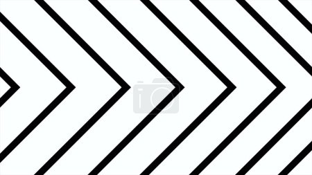 Formation of arrow. Dynamic black and white transition animation. Abstract animation of Arrow motion