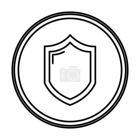 Line security shield web protection emblem vector ...