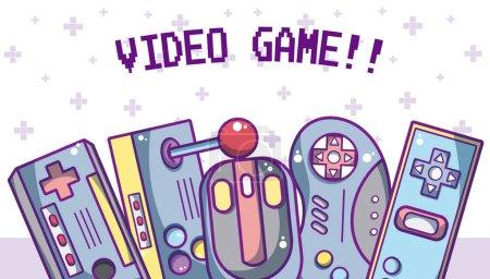 Videospiel retro cartoons konzept vektor illustration grafik design