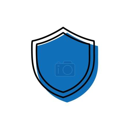Shield security protection web symbol vector illus...