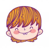 cute little boy head character