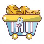 supermarket products cartoon