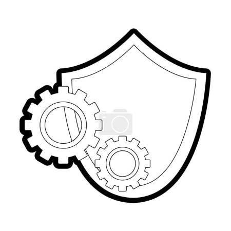 Line shield security with gear process industry ve...