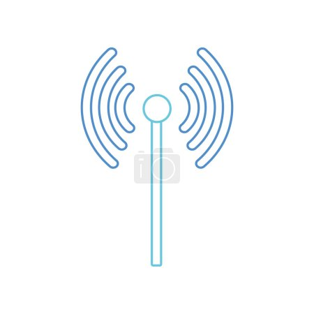 Photo for Wifi of internet technology and communication theme Isolated design Vector illustration - Royalty Free Image