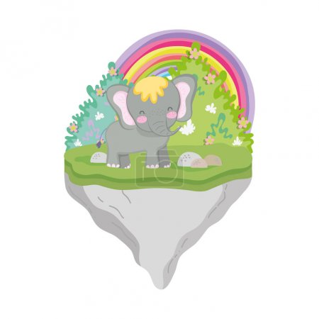 Photo for Cute and little elephant character vector illustration design - Royalty Free Image