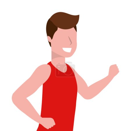 Photo for Fitness sport train man running cartoon vector illustration graphic design - Royalty Free Image