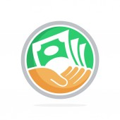 icon vector illustration with concept of fundraising business loan money save money and other financial management