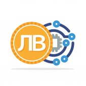 Illustration icon concept of a digital money transaction with the Bulgarian currency Bulgarian Lev