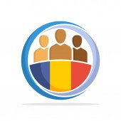 Illustrated icon with the concept of the national community of Andorra