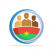 Illustrated icon with the concept of the national community of Burkina Faso