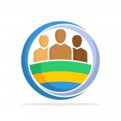 Illustrated icon with the concept of the national community of Gabon