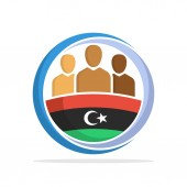 Illustrated icon with the concept of the national community of Libyan