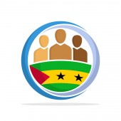 Illustrated icon with the concept of the national community of Sao Tome and Principe