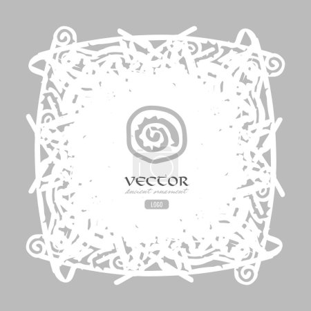 Ancient design, isolated on grey, vector illustrat...