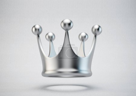 silver crown on grey background