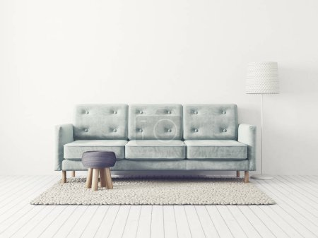 Photo for Modern living room with sofa and lamp - Royalty Free Image