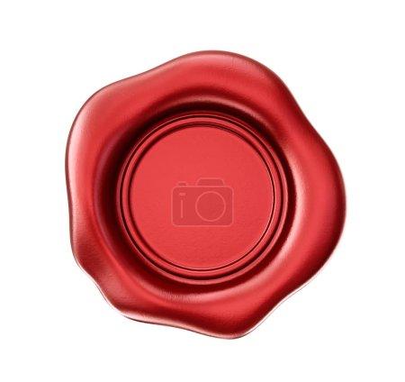 Photo pour Sceau de cire rouge isolé sur fond blanc - image libre de droit