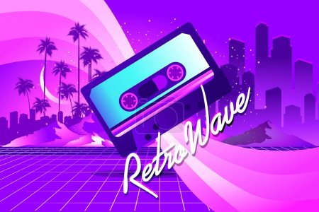 Retro style pop disco
