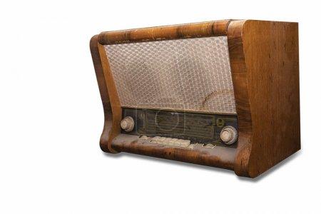 Photo pour Vieux gramophone sur fond blanc - image libre de droit