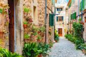 Valldemossa old mediterranean village, landmark of Majorca, Spain
