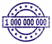 Scratched Textured 1 000 000 000 Stamp Seal
