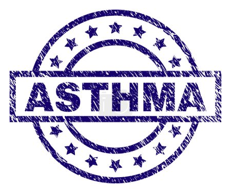 Scratched Textured ASTHMA Stamp Seal