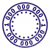 Scratched Textured 1 000 000 000 Round Stamp Seal