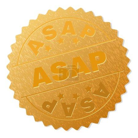 Gold ASAP Medallion Stamp