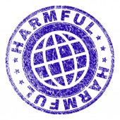 Scratched Textured HARMFUL Stamp Seal