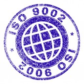 Scratched Textured ISO 9002 Stamp Seal