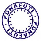 Scratched Textured FUNAFUTI Round Stamp Seal