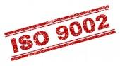 Grunge Textured ISO 9002 Stamp Seal