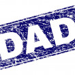 DAD stamp seal imprint with grunge texture. Seal s...