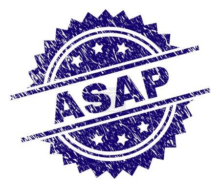 Grunge Textured ASAP Stamp Seal