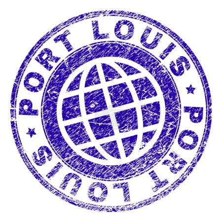 Scratched Textured PORT LOUIS Stamp
