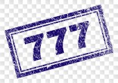 Scratched 777 Rectangle Stamp