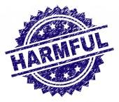 Grunge Textured HARMFUL Stamp Seal