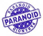 Grunge Textured PARANOID Stamp Seal